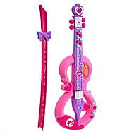 violon forme plastique rose / jouet musique pourpre pour les enfants