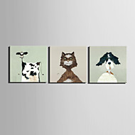 Mini Size E-HOME Oil painting Modern Animal Portraits Pure Hand Draw Frameless Decorative Painting