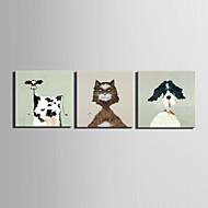 Mini-Größe E-home Ölgemälde modernen Tierportraits reine Hand rahmenlos dekorative Malerei zeichnen