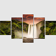 Canvas Print Art Abstract Painting Set Of 5 Landscape Pictures Painting On The Wall Home Decor