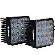 """kawell® Pack 2 48w carré 4.3 """"30 degrés conduit pour atv / jeep / bateau / suv / camion / voiture / atvs"""
