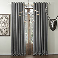 Chadmade HELMUT Collection Polyester Faux Linen Waffle Woven Insulated Thermal Curtain Panel Drape