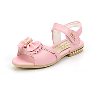 Girl's Summer Peep Toe / Gladiator / Sandals Leatherette Outdoor / Casual Flat Heel Crystal / Bowknot / Applique / Magic Tape Blue / Pink