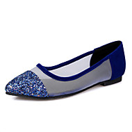 Women's Spring / Summer / Fall Pointed Toe Glitter Dress / Casual / Party & Evening Flat Heel Black / Blue