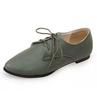 Women's Shoes Flat Heel Comfort / Pointed Toe Oxfords Dress / Casual Green / Red / Gray