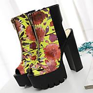 Sandály-Látka-Podpatky / S otevřenou špičkou / Platformy / Bootie / Módní boty-Dámská obuv-1 #-Šaty / Party-Kačenka
