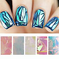5pcs glass nail art foils-5cmX20cm each piece-PVC-Absztrakt-Ujj / Toe-Más dekorációk
