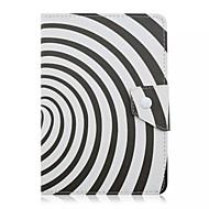 divat minta 7 hüvelykes táblagép esetében univerzális bőr állvány tok 7 hüvelykes Tablet pc mágneses felhajtható fedél