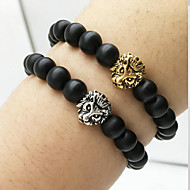 Lion Head Beads Agate Bracelet Charm Bracelets Daily / Casual 1pc Christmas Gifts