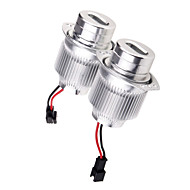 2PCS 40W CREE LED Angel Eye for B-MW E91/E90-LCI Car Models Aviation Aluminum Material White Color
