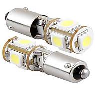 2pcs 12V 5W weiße Farbe LED-Seitenmarkierungsleuchte, BA9s CAN-Bus-LED-Leselicht, Kennzeichenleuchte