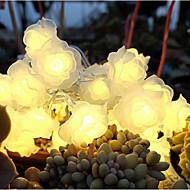 Ikke personalisert-LED-lys-Hagetema / Blomstertema(Hvit