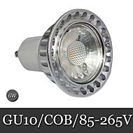 1pcs Ding Yao GU10 6W 1LED COB 300lm Warm White / Cool White Recessed Retrofit Decorative LED Spotlight AC 85-265V