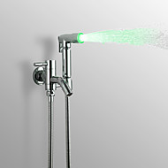 PHASAT Water-saving High Pressure LED  Bidet Sprayer Handheld Bidet for toilet, Chrome