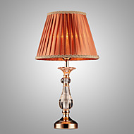 SL® Iron Desk Lamp with Crystal Pillar Cloth Shade Classic Lighting