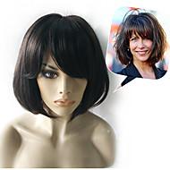 Sophie Marceau peinado bob medio remy virginal humano mano atada -Top pelucas de cabello sin tapa