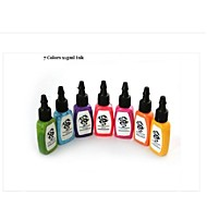 BaseKey Tattoo or  Makeup Ink Colors 7 x 15ml
