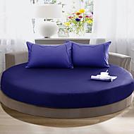 runde bedsheet diameter 2m eller 2.2meter + 2stk pudevår 100 bomuld madras cover / case