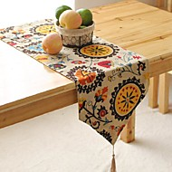 Plaid Pattern Table Runner Fashion Hotsale High-grade Cotton Linen Table Top Deco