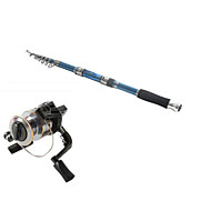 Telespin Rod / Fishing Rod + Reel / Fishing Rod Telespin Rod Carbon 291 M Sea Fishing Rod & Reel Combos Dark Blue