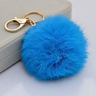Rabbit fur ball keychain car ornaments plush fur bag cute female key chain pendant