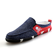 Men's Spring / Summer / Fall / Winter Comfort / Closed Toe Fabric Outdoor / Casual Flat Heel Slip-on Black / Blue
