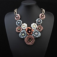 2016 Hot Sale Brand Design Multi-Layer Rhinestone Flower Water Drop Necklace Link Chain Statement New Jewelry