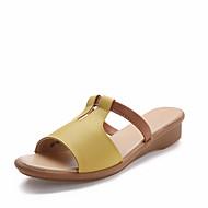 Women's Shoes Low Heel Open Toe Sandals Outdoor / Dress / Casual Black / Yellow / White
