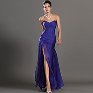 Formal Evening Dress Sheath / Column Sweetheart Ankle-length Chiffon with Split Front