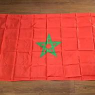 Marokkó zászló poliészter zászló 5 * 3 láb 150 * 90 cm-es kiváló minőségű olcsó áron természetbeni forgatás nélkül (zászlórúd)