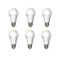 10W E26/E27 LED Globe Bulbs A60(A19) 1 COB 980 lm Cool White AC 100-240 V 6 pcs