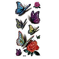 8pcs 3D Effect Butterflies Animals Body Art Temporary Tattoos Flash Sticker Women Jewelry Tattoo Waterproof Fashion