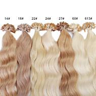 neitsi 20 palců 1 g / 100 g s keratin fúze u špička hřebu přírodní WEAVY lidské prodlužování vlasů