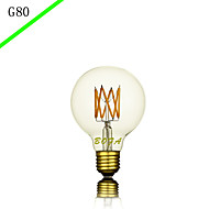 BOFA G80 LED 6W Antique Edison Silk ball Bubble Lamp(85V-265V)