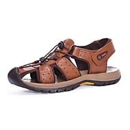 herresko utendørs / kontor&karriere / atletisk / kjole / uformelle nappa skinn sandaler svart / brun