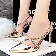 נעלי נשים-בלרינה\עקבים-עור פטנט-עקבים / שפיץ-שחור / אדום / כסוף / זהב / שמפניה-חתונה / שמלה / מסיבה וערב-עקב סטילטו