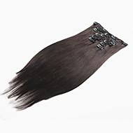 קליפ שיער בתולת תוספות שיער אדם ברזילאי קליפ שיער ישר שיער טבעי הארכה