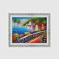 מצויר ביד L ו-scape / פרחוני/בוטניסגנון ארופאי פנל אחד בד ציור שמן צבוע-Hang For קישוט הבית