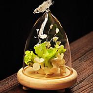 pastorale stil glas til boligindretning 1pc / sæt (vase kun uden blomst)