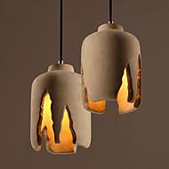 Light Minimalist Restaurant Coffee Shop Vintage Loft Bar Hang Lamp Creative Tooth Shape Cement Pendant Lamp