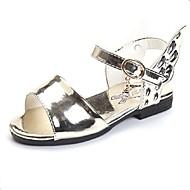 Girl's Summer Peep Toe / Sandals PU Outdoor / Dress / Casual Flat Heel Hollow-out Pink / Gold
