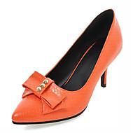 Women's Shoes Leatherette Stiletto Heel Heels Heels Outdoor / Office & Career / Dress Black / Green / Orange