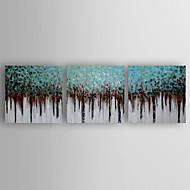 Håndmalte Landskap / Abstrakte LandskapModerne Tre Paneler Lerret Hang malte oljemaleri For Hjem Dekor