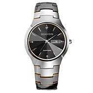 GUANQIN® High-end Fashion Men Japanese Quartz Diamond Sapphire Crystal Dual Calendar Tungsten Steel Band Dress Wrist Watch Cool Watch With Watch Box