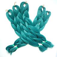 """Jumbo Box Tranças Ombre Braiding Hair fibra sintética Verde Extensões de cabelo 24 """" Tranças de cabelo"""