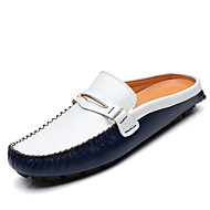Men's Shoes Casual Leather Clogs & Mules / Slip-on Black / Blue / Yellow