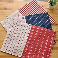 "6pcs Placemats Pack Cotton Fabric Washable Fashion Pattern 11.8"" by 12.6"""