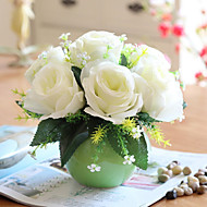 משי ורדים פרחים מלאכותיים