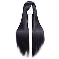 80 см жаропрочных Harajuku аниме косплей парики молодые длинные прямые волосы синтетический парик парики для / японская аниме
