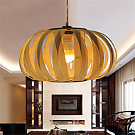 12W Vintage LED Others Wood/Bamboo Pendant Lights Living Room / Bedroom / Dining Room / Study Room/Office / Hallway